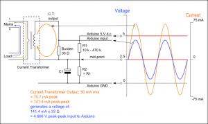 Arduino AC current input A